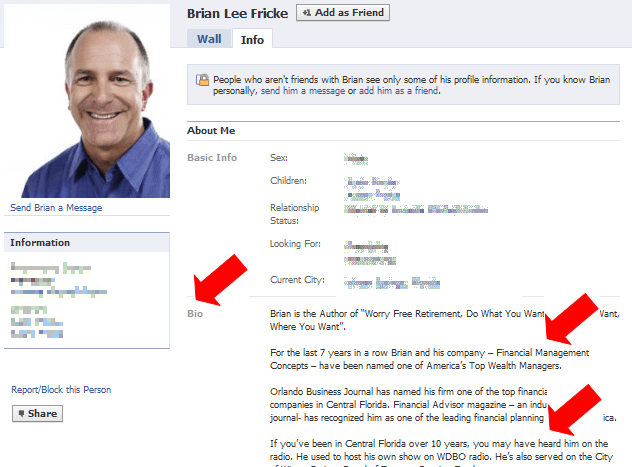 how to use Facebook for marketing from brian lee fricke