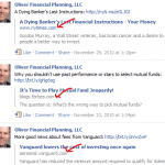 financial advisor marketing with content curation
