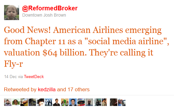 retweets from financial advisor, joshua brown