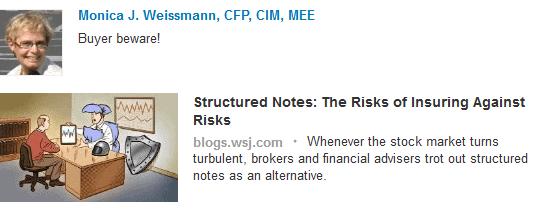 Monica Weissmann, Financial Advisor sharing content from WSJ blog