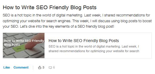seo friendly blog posts