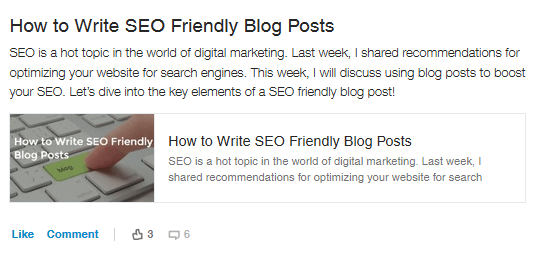 seo friendly blog posts