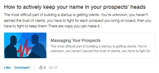 Prospect marketing
