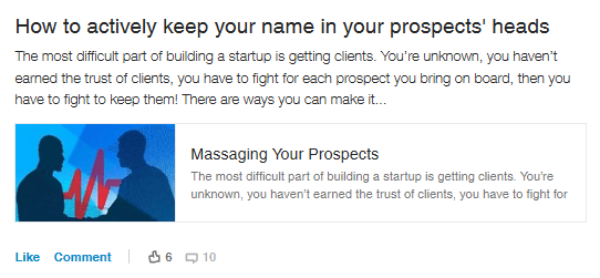 Prospect marketing