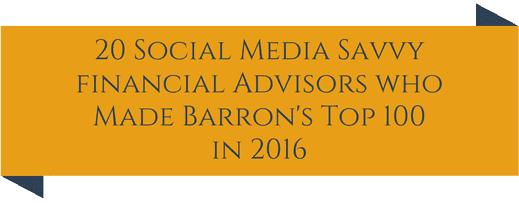 barrons top 100 social media savvy