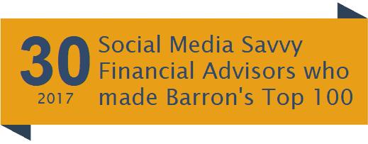 social media savvy financial advisors barron's top 100